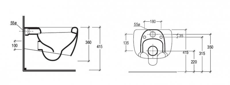 gsg ceramica wand wc touch bad heizung armaturen designarmaturen heizk rper. Black Bedroom Furniture Sets. Home Design Ideas